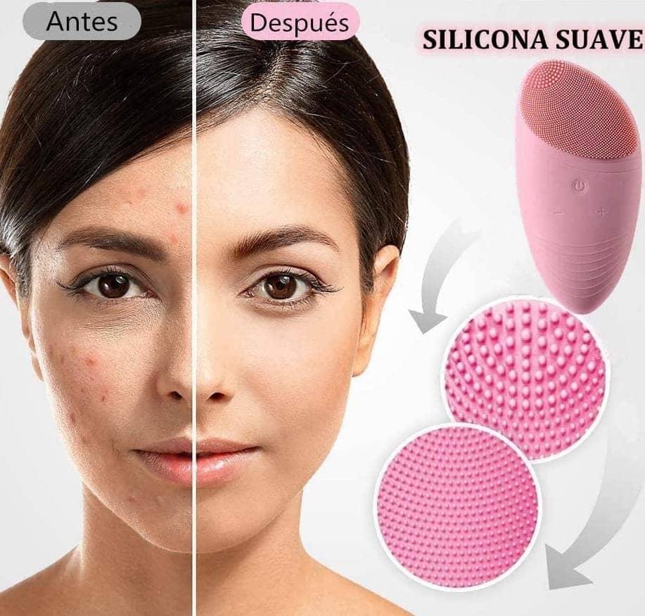 facial de silicona proporciona limpieza y se puede masajear para eliminar la suciedad del rostro
